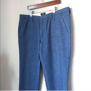 HUGO BOSS dress pants blue Italian fabric wool